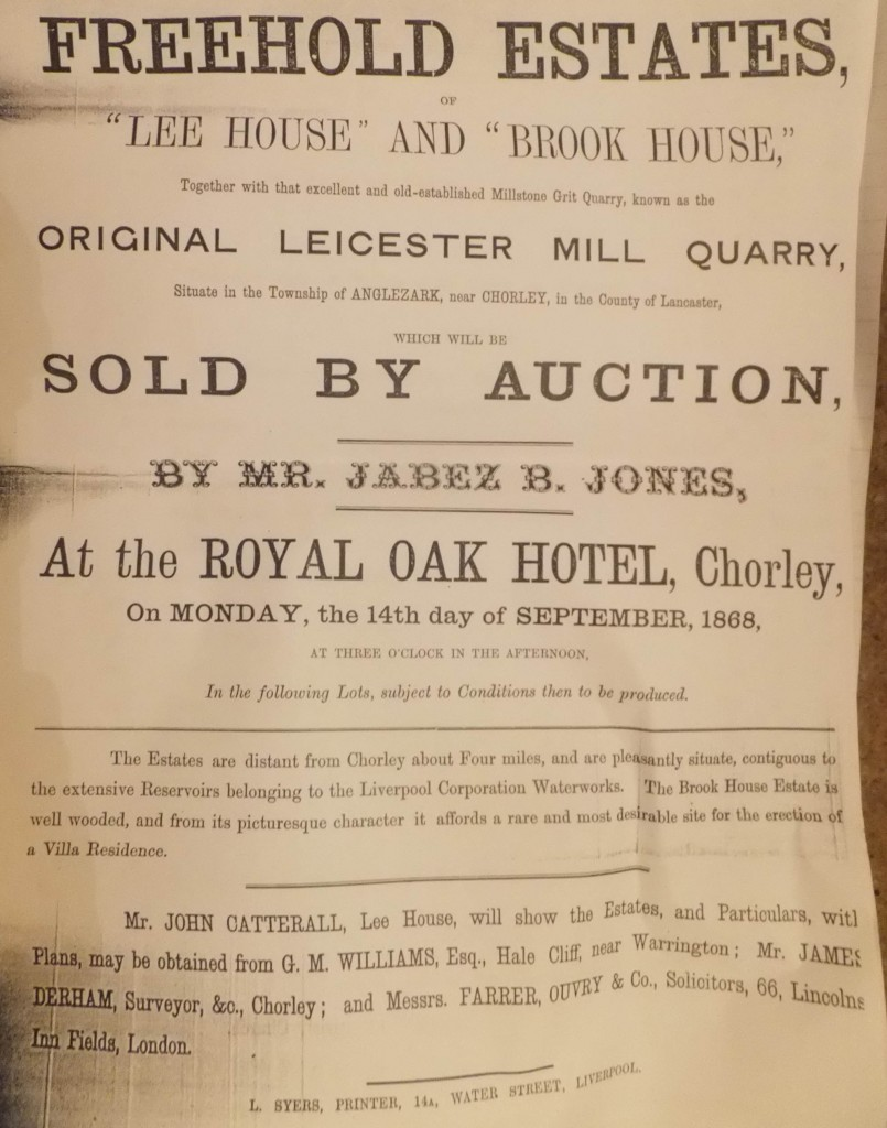 Brook House, and Lee House, up for auction.