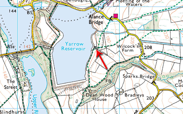 Some farms were lost forever during the construction of Yarrow Reservoir.  Andertons escaped by a whisker!