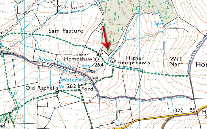 The ruins of Higher and Lower Hempshaw's are the only isolated farmsteads that are visible from the nearby roads.
