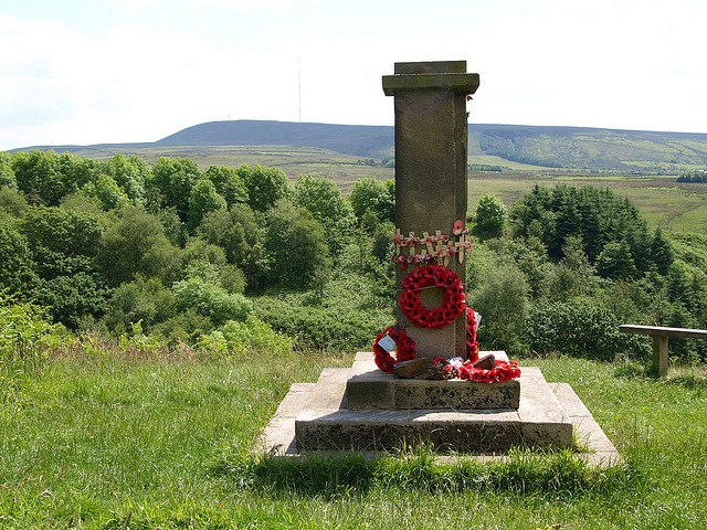 The memorial at Lead Mines Clough - a fitting tribute with a fantastic view.