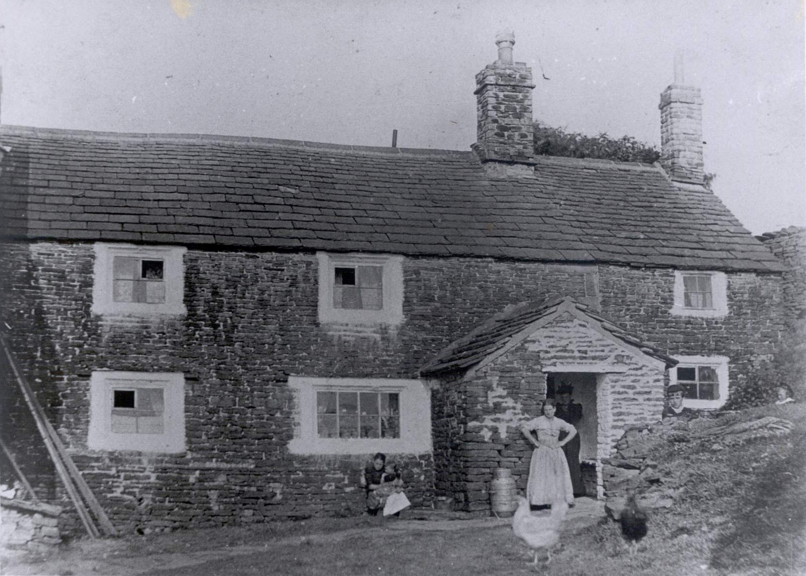 Old Rachel's, with Rachel Evans at the door in circa 1880.