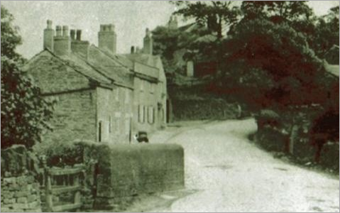 The bridge over the Yarrow near the Black Horse pub, guesstimated circa 1900.