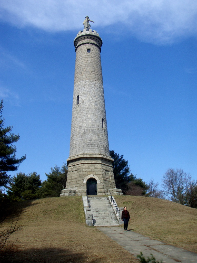 Myles Standish monument in Duxbury, Massachusetts.