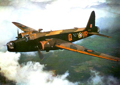 A Wellington Bomber of the type that crashed into Anglezarke Moor's Hurst Hill.