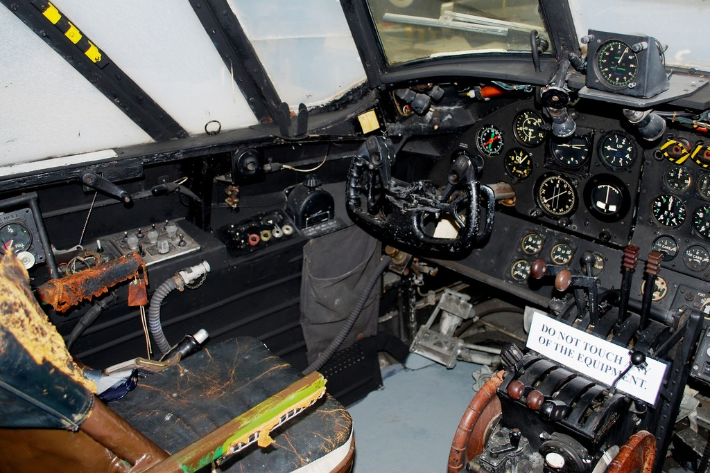 The interior of a Wellington Bomber.